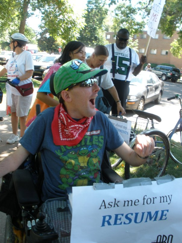 I marched with ARO in the Colorado Disability Pride Fest 2013!