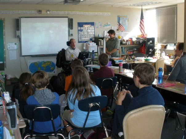 Classroom visit by Nick Roussos