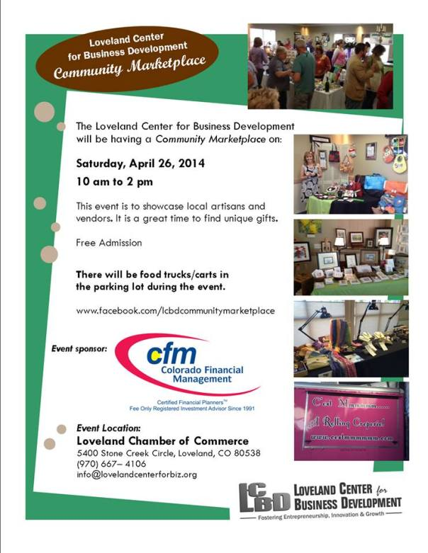 Meet me at the Community Marketplace Tomorrow