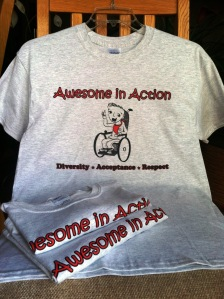 Awesome in Action T-shirts