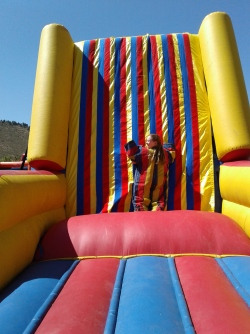 Thalia on velcro wall