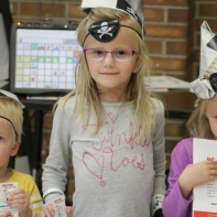 Preschoolers at Literacy Night