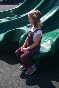 Alayna waits patiently for the next shoot