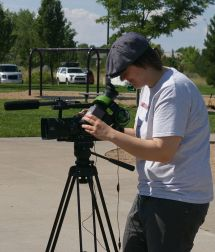 Jamie films at Inspiration Park
