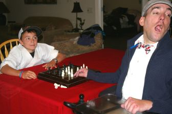 Getting ready for an intense game of Chess