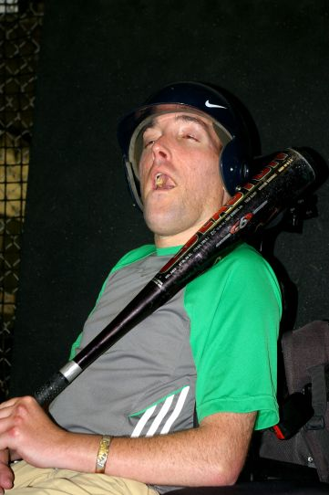 baseball Nick, weary after CIndy's prestine pitches to his bat